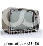 Clipart Illustration Of A Vintage Box Television by KJ Pargeter