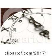 Clipart Illustration Of Wall Clock Arms And Hands Pointing To A Few Minutes Before Midnight On New Years Eve