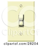 Electrical Flip Light Switch In The On Position