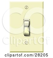Clipart Illustration Of An Electrical Flip Light Switch In The Off Position by Dennis Cox