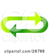 Clipart Illustration Of An Oval Of Gradient Light And Dark Green Arrows Moving In A Clockwise Motion