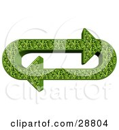 Clipart Illustration Of An Oval Of Green Leafy Arrows Moving In A Clockwise Motion by djart