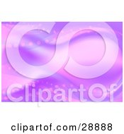Clipart Illustration Of A Fantasy Or Underwater Background Of Pink And Purple Waves And Dots