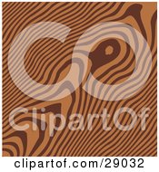 Clipart Illustration Of A Textured Background Of Medium Brown Wood Grains
