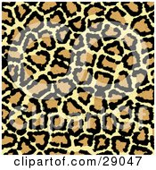 Clipart Illustration Of A Background Of Black Brown And Tan Leopard Print Patterns by KJ Pargeter