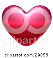 Clipart Illustration Of A Pink And Red Valentine Heart With Light Shining Off Of The Top by Tonis Pan