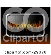 Clipart Illustration Of Orange And Yellow Sound Waves Spanning A Screen