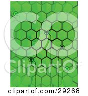 Clipart Illustration Of Points Of Binary Code Spanning From Spaces In A Green Hive