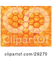 Clipart Illustration Of Points Of Binary Code Spanning From Spaces In An Orange Hive by Tonis Pan
