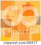 Clipart Illustration Of A Retro Orange And Yellow Square Background