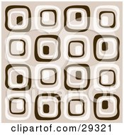 Clipart Illustration Of A Background Of Brown And Beige Retro Squares