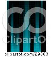 Background Of Gradient Blue And Black Columns Of Squares by elaineitalia