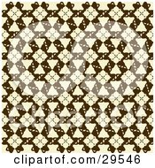 Clipart Illustration Of A Retro Beige And Brown Patterned Wallpaper Design
