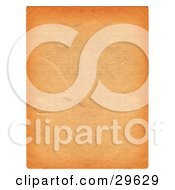 Orange Textured Piece Of Blank Parchment Paper With Scuff Marks Bordered By White