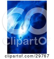 Clipart Illustration Of A Background Of Patches Of Bright Light In A Blue Smokey Fractal by KJ Pargeter