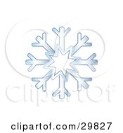 Clipart Illustration Of A Gradient Blue Winter Snowflake by Melisende Vector