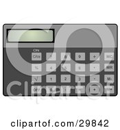 Clipart Illustration Of A Solar Calculator With A Display And Buttons
