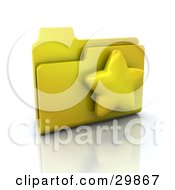 Yellow Favorites Link Folder With A Star On It