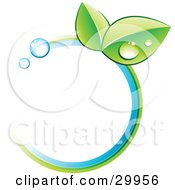 Clipart Illustration Of A Pre Made Logo Of Leaves And Colors In A Circle by beboy #COLLC29956-0058