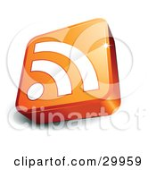 Clipart Illustration Of A Pre Made Logo Of An Orange And White RSS Cube by beboy