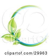 Clipart Illustration Of A Pre Made Logo Of A Circle Of Colors And Leaves by beboy #COLLC29963-0058