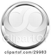 Clipart Illustration Of A Pre Made Logo Of A Shiny Orb Bordered By Chrome