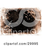 Grunge Background Of Water Stains And Splatters With Brown Over Black And White