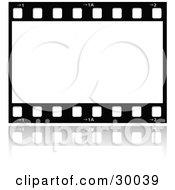 Clipart Illustration Of A Large Film Strip With A Blank Frame by KJ Pargeter