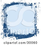 Clipart Illustration Of A White Navy And Blue Grunge Background