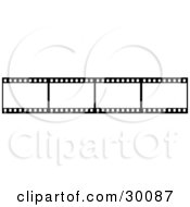 Clipart Illustration Of A Film Strip Of Blank White Frames by KJ Pargeter