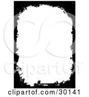 Clipart Illustration Of A Vertical Background Of White Framed With Black Grunge Marks