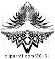 Clipart Illustration Of A Set Of Two Intricate Tattoo Designs
