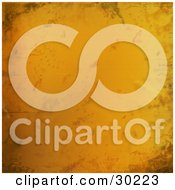 Clipart Illustration Of A Grungy Orange Background With Texture