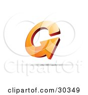 Clipart Illustration Of A Pre Made Logo Of An Orange Circling Arrow