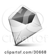 Clipart Illustration Of A White Envelope With The Flap Open by beboy