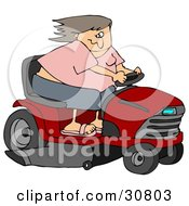Clipart Illustration Of A White Woman Having Fun Her Hair ...