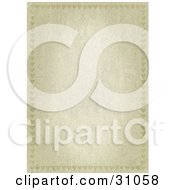 Vertical Stone Textured Stationery Background With Faint Heart Borders