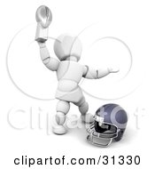 White Character Holding Up An American Football Championship Trophy by KJ Pargeter