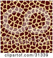 Clipart Illustration Of A Brown And Tan Giraffe Patterned Background