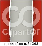 Clipart Illustration Of A Blank Beige Background Framed By Torn Edges Of Red Paper by KJ Pargeter