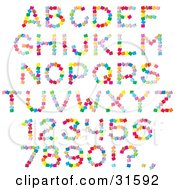 Clipart Illustration Of A Font Set Of Colorful Letters Numbers And Punctuation Made Of Cubes by Alex Bannykh