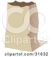 Clipart Illustration Of An Empty Paper Bag For Groceries Or Cold Lunch by PlatyPlus Art #COLLC31632-0079