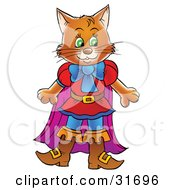 Clipart Illustration Of A Brown Cat In Clothes And Boots Puss In Boots