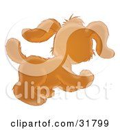 Clipart Illustration Of A Playful And Curious Puppy Dog Running And Looking Away From The Viewer