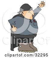 Clipart Illustration Of A Gas Man Super Hero Technician Wearing A Mask And Cape by djart
