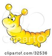 Cute Yellow Caterpillar