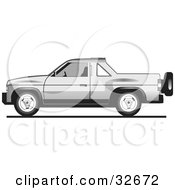 Clipart Illustration Of A Silver Tata Sumo Pickup Truck