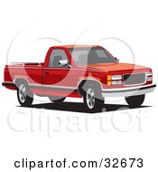 Clipart Illustration Of A Red Chevy Cheyenne Truck