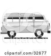 White Combo Van In Profile