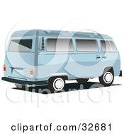 Pastel Blue Combo Van